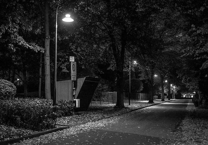 Strassenszene bei Nacht. Nikon D4, 2,8/28-70 mm, Foto: Klaus Schoerner