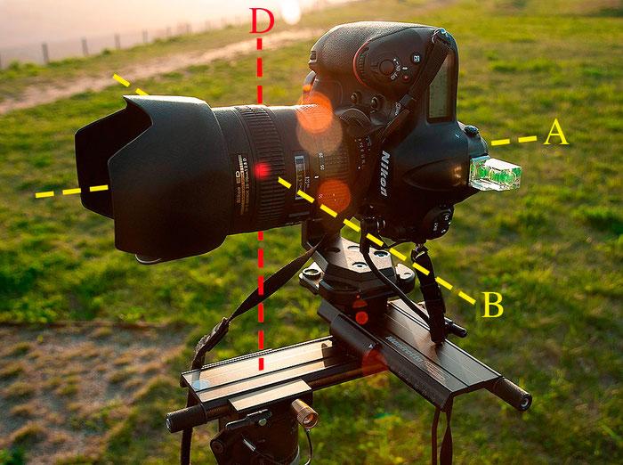 Bestimmung des Nodalpunktes mit dem Manfrotto Nodalpunktadapter 303Plus, Nikon D4, AF-S 2,8/28-70 mm, Foto: bonnescape