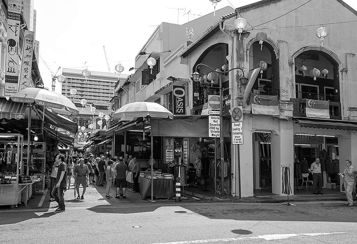 Reisefotografie: China Town, Singapore. Nikon D200. Nikkor 16-85 mm. Foto: Dr. Klaus Schoerner