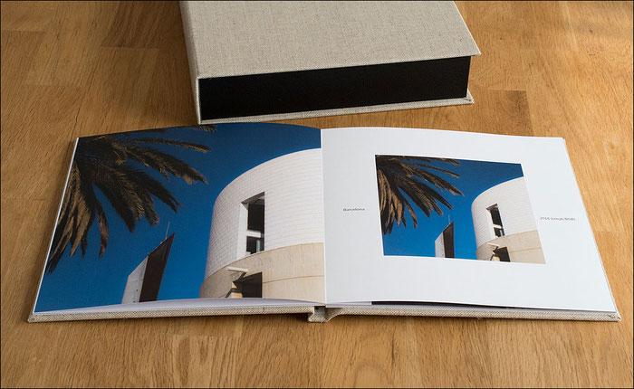 Test des SAAL Digital Professional Line Fotobuchs. Farbige Doppelseite. Foto: bonnescape.de