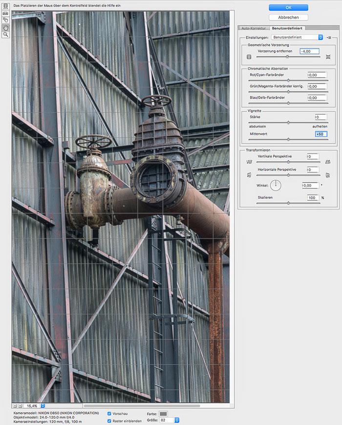 Praxistest NIKON D850, AF-S 24-120 mm 1: 4, Screenshot, Landschaftspark Duisburg. Foto: bonnescape