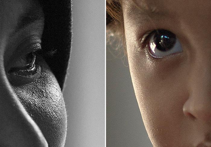 Das Doppelportrait in der Detailansicht 100% zeigt die hohe punktuelle Schärfeleistung des 50mm Summicron an der LEICA M9. Foto: Klaus Schoerner
