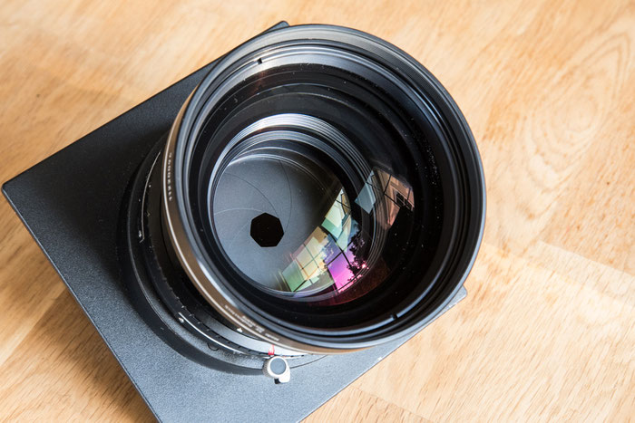 1:6.8 / 360 mm SINARON S MC im Copal3-Verschluss auf Sinar-Platte, Foto: bonnescape.de