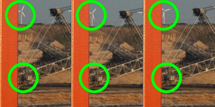 Bestimmung des Nodalpunktes, Detailansichten bei Drehung um den Nodalpunkt, Foto: bonnescape