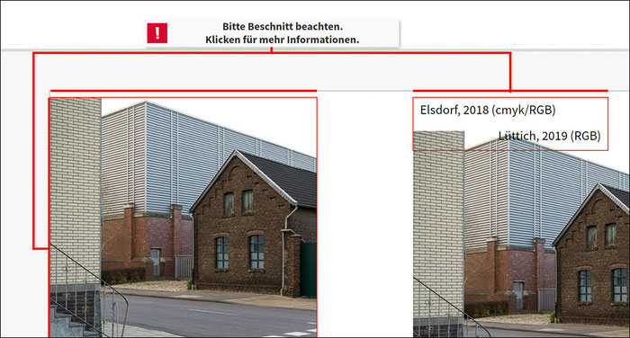 Test: Fehlermeldungen in der Arbeitsoberfläche, SAAL Digital Professional Line Fotobuch. Foto: bonnescape.de