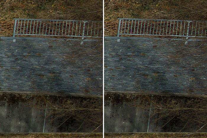Detailausschnitt aus dem Test-Panorama, rechte Seite, Leica M9 mit PC-Super-Angulon-R 2,8/28mm, Foto: Klaus Schoerner
