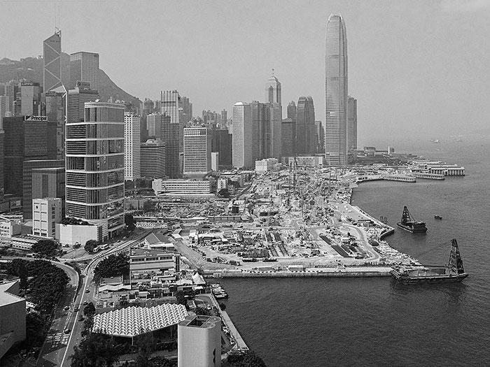 Blick auf das Landgewinnungsprojekt von Hong Kong. Foto: Klaus Schoerner