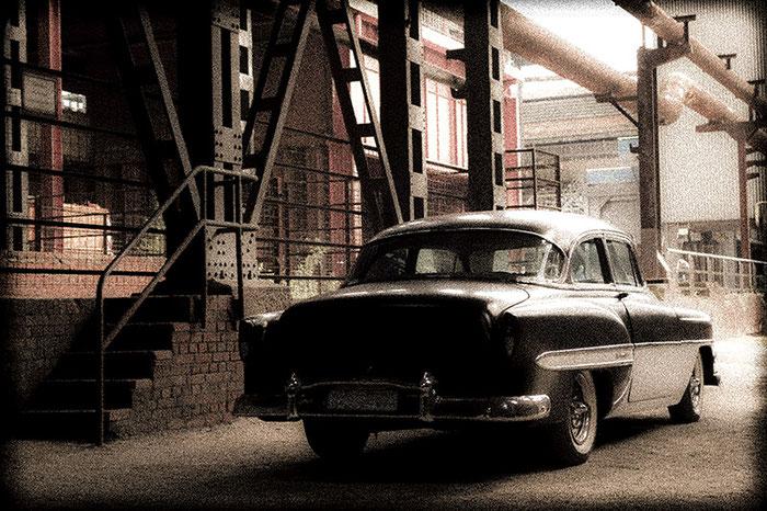 Test impressionistischer Bildeffekt mit Lightroom. 1953er Chevrolet Bel Air, Foto: Klaus Schoerner