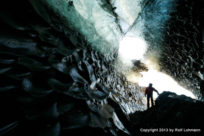 Rolf Lohmann Bildarchiv Island: Eishöhle, Vatnajökull-Gletscher. SONY Alpha 99. bonnescape.de