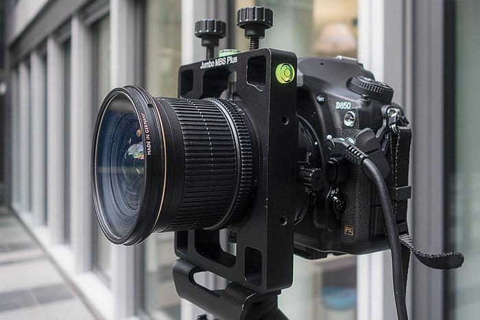 Praxistest NIKON D850 mit PC-E 24 mm 1: 3,5 und JUMBO MBS Plus. Foto: bonnescape