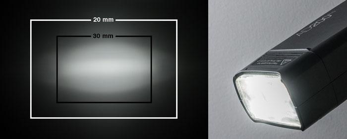 Test Godox AD200Pro, Lichtwirkung mit Standard-Blitzkopf, Foto: bonnescape.de