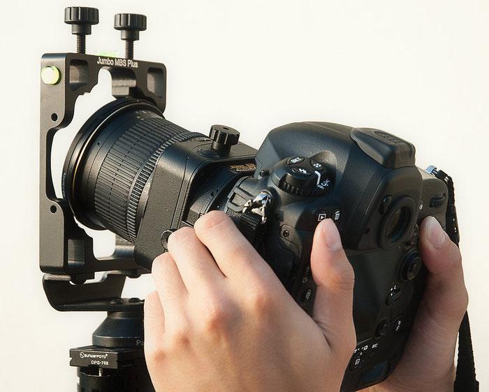 Praxis-Test: Agno's Jumbo MBS Plus, Einsetzen der Nikon D4 mit Shift/Tilt PC-E 24 mm 1:3,5 D ED, Foto: bonnescape