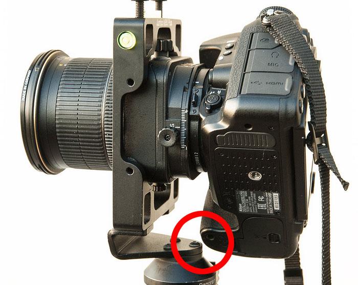 Praxis-Test Agno's Jumbo MBS Plus: Platzproblem Handgriff mit Nikon D750 und Shift/Tilt PC-E 24 mm 1:3,5 D ED, Foto: bonnescape