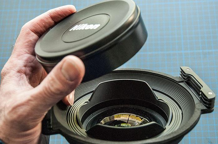 Praxistest: HAIDA 150 Filterhalter. Der Objektivdeckel des AF-S NIKKOR 14–24 mm 1:2,8G ED hält nicht mehr. Foto: bonnescape