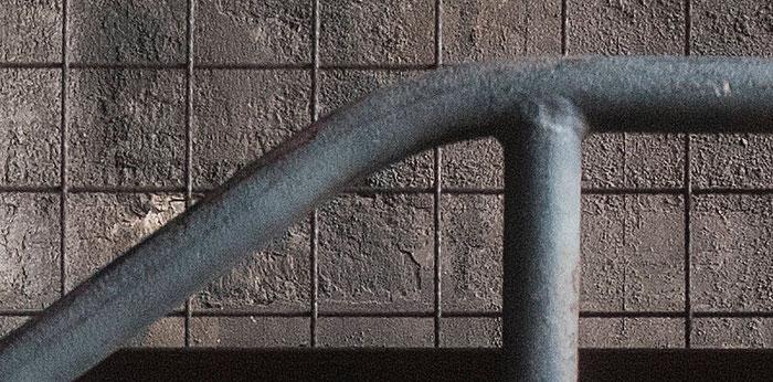 Praxistest NIKON D850, AF-S 14-24 mm 1: 2,8, Landschaftspark Duisburg, Treppchen, Detail geschärft. Foto: bonnescape