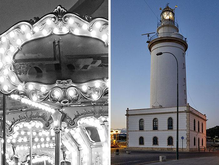 Test Sony RX100 II: Nachtaufnahme in 100%-Ansicht und Leuchtturm, Foto: Klaus Schoerner