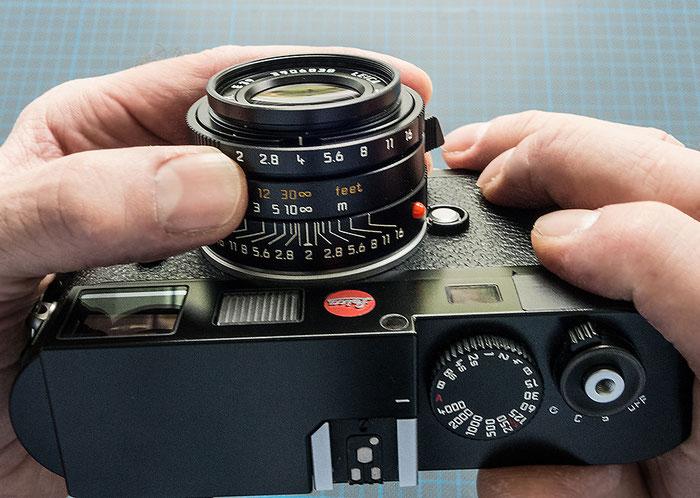 Praxistest: Das 35 mm Summicron an der Leica M9. Foto Klaus Schoerner