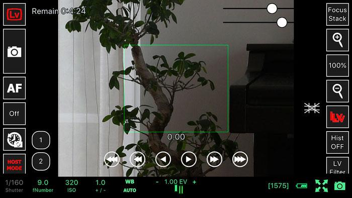 Test: WLAN Tethered Shooting mit ControlMyCamera V1.0.1. Live View mit Bildschirmlupe. Screenshot und Foto: Bonnescape