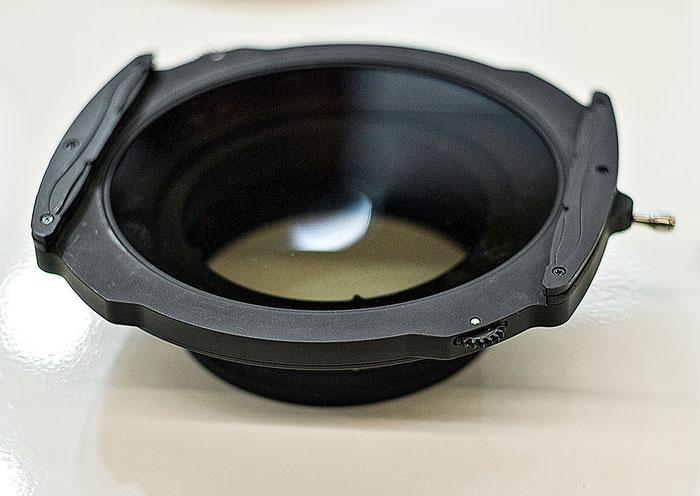 Photokina-Neuheit: Beim Haida-Filterhalter wird der Polfilter mit einem Zahnrad gedreht, für 150mm series Polfilter und Verlaufsfilter, Foto: bonnescape