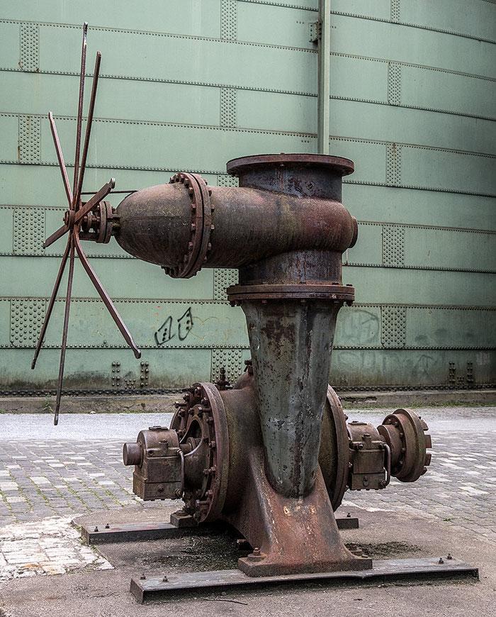 Praxistest NIKON D850, AF-S 24-120 mm 1: 4, Landschaftspark Duisburg, Turbine. Foto: bonnescape