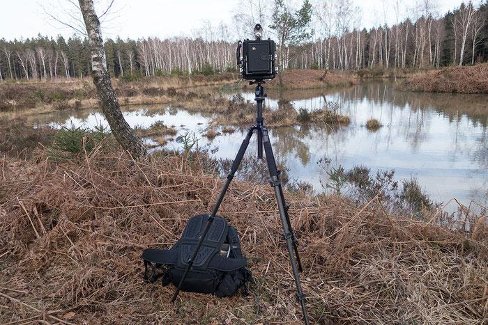Der LowePro ProTactic 450 AW II im Einsatz mit der Großformatkamera. Copyright 2020 by bonnescape.de