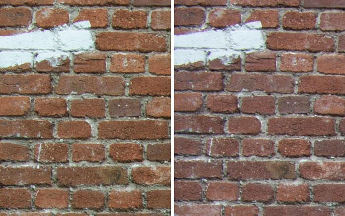 Testvergleich: 2,0/35 mm Zeiss Biogon ZM vs. 2,0/35 mm Zeiss Distagon ZF: Blende 16, Ecke links oben