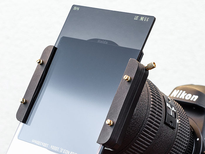 Test: Haida-Filterhalter mit Grauverlaufsfilter, Graufilter und Polfilter auf Nikon D4