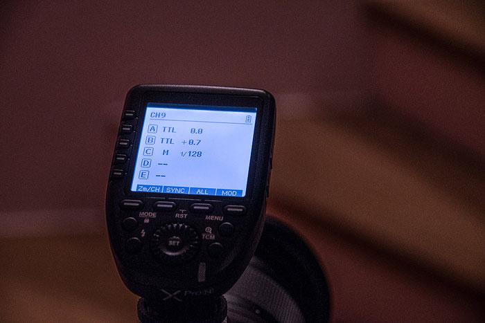 Test: GODOX Xpro-N, Fernsteuerung von 3 Blitzgeräten. Foto: bonnescape.de