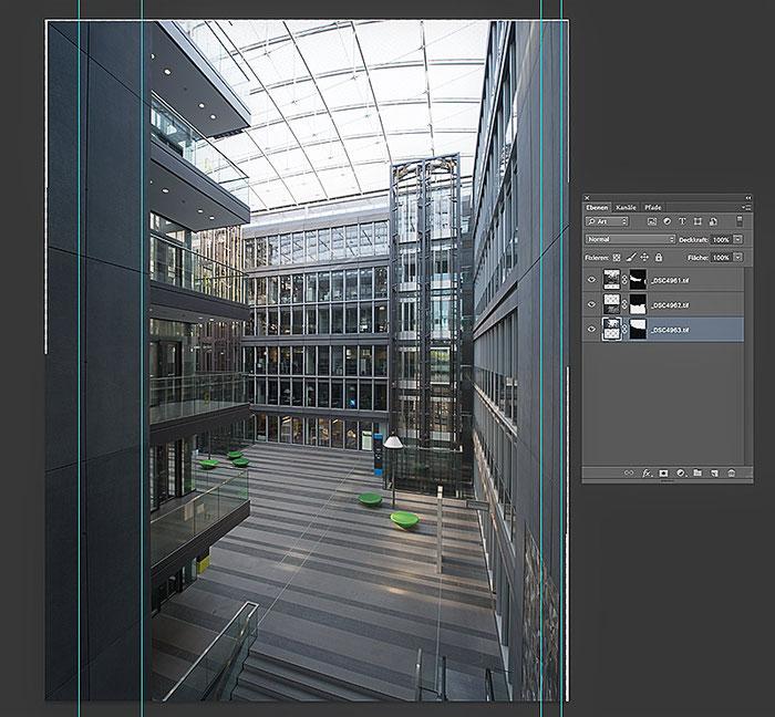 Westgate, Montage des Gesamtbildes durch Stitching in Photoshop, Foto: bonnescape