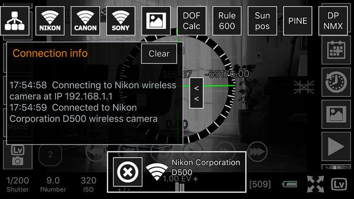 Test: WLAN Tethered Shooting mit NIKON und ControlMyCamera V1.0.1. Screenshot und Foto: Bonnescape