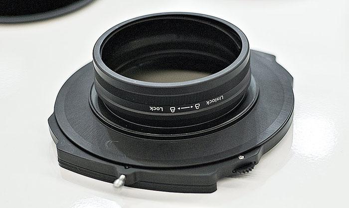 Photokina-Neuheit: Rückansicht des neuen Filterhalters von Haida für 150mm series Polfilter und Verlaufsfilter, Foto: bonnescape