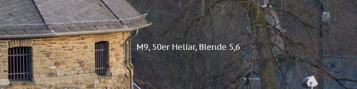 Praxistest Voigtländer Heliar 3,5/50 mm VM, Testmotiv Burg, 100%-Crop bei Blende 5,6, Foto: Klaus Schörner