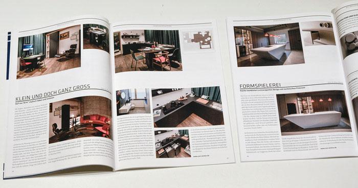 CUBE-Magazin, Ausgaben 01/2020 und 03/2020, Berichte über ZON EICHEN mit Fotos von Dr. Klaus Schörner.