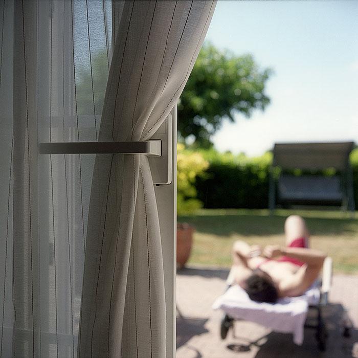 "Praxistest ROLLEIFLEX 2,8 GX, Foto ""Blick in den Sommer-Garten"". Foto: bonnescape"