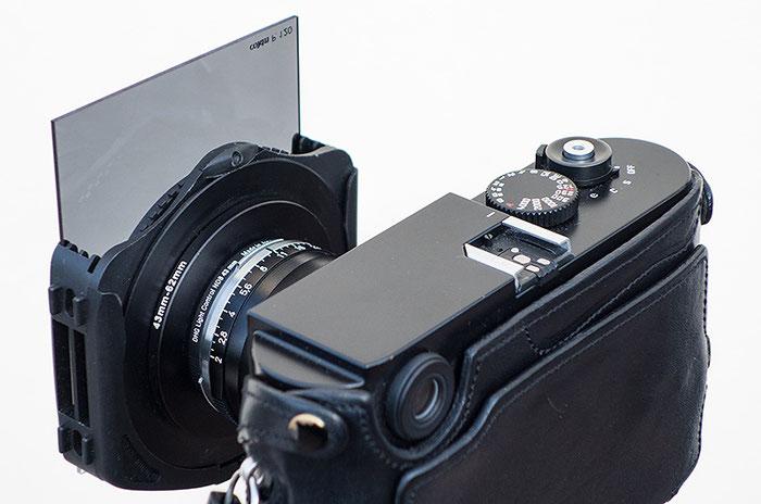 Das 35er Biogon ist bestückt mit einem Einschraub-Graufilter ND8 und dem Filterhalter COKIN P mit Grauverlauffilter und Polfilter