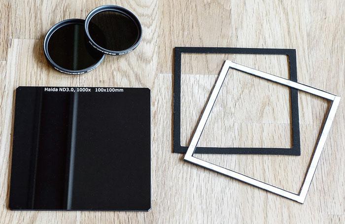 Vergleich: ND-Graufilter mit Einschraubfassung oder als Scheibe für Filterhalter