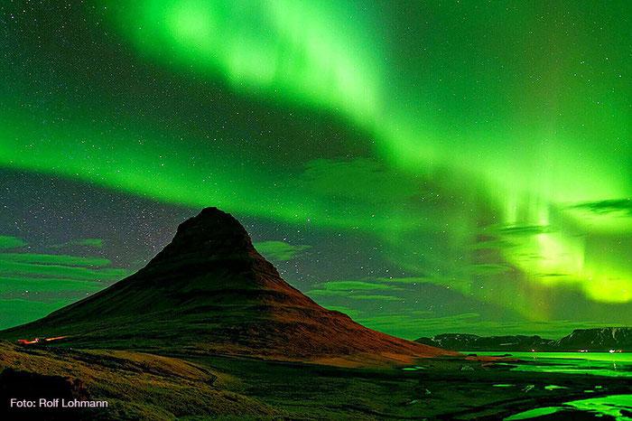 Nordlicht auf Island. Foto Rolf Lohmann