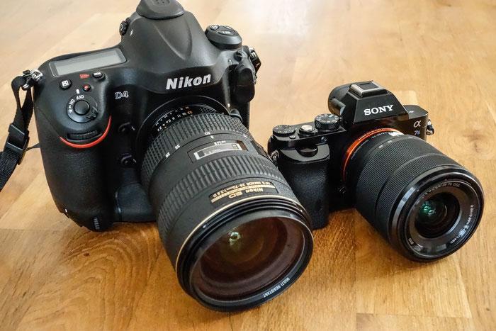 Vergleich: Goliath und David. Nikon D4 und Sony Alpha 7s.