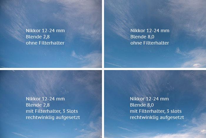 Praxistest Vignettierung:  AF-S NIKKOR 14–24 mm 1:2,8G ED, mit und ohne Filterhalter HAIDA 150. Foto: bonnescape