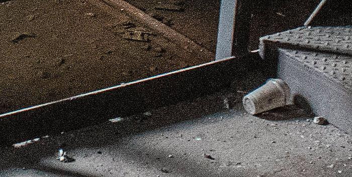 Praxistest NIKON D850, AF-S 28-70 mm 1:2,8, Landschaftspark Duisburg, Kellerabgang, Detail geschärft. Foto: bonnescape