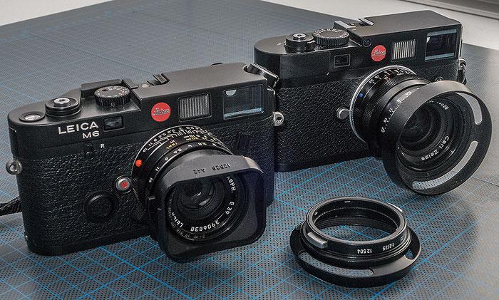 35 mm Summicron an der Leica M6 und Biogon an der Leica M9. Foto Klaus Schoerner