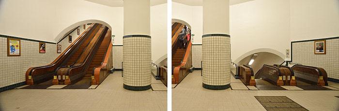 Rolltreppenfoto Teilbilder unmontiert