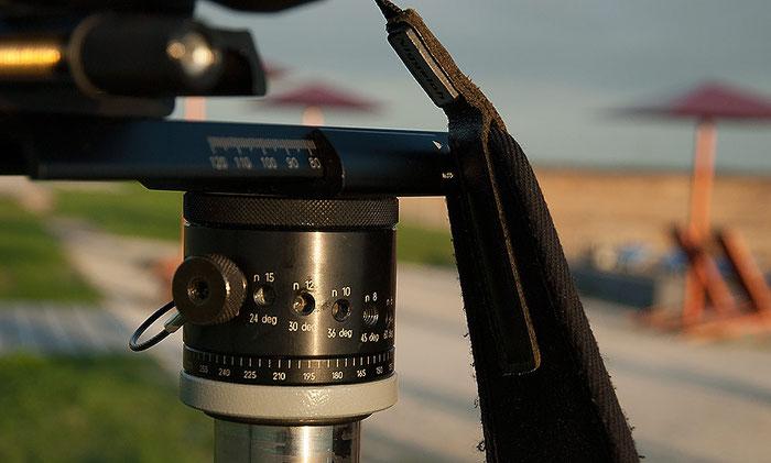 Manfrotto Panoramakopf mit Rastungen für gleichmäßige Drehschritte, Foto: bonnescape