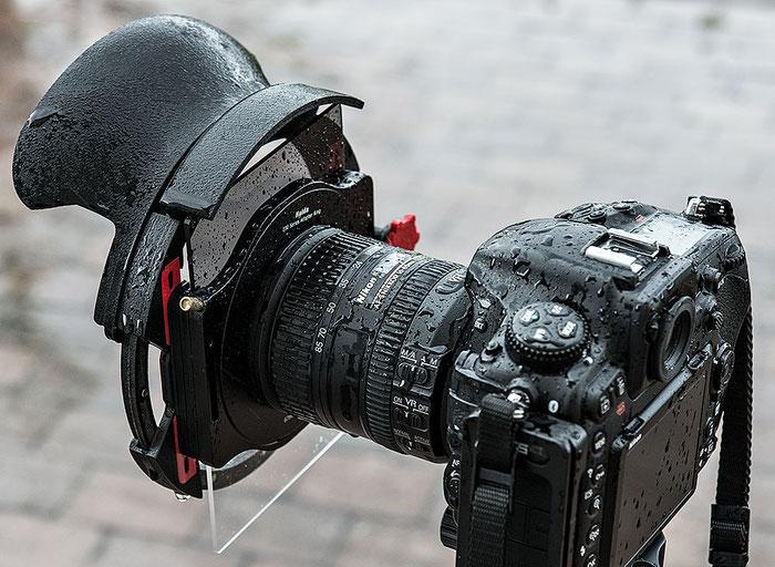 Praxistest: Der Filterprotector mit Weitwinkelblende und Rechteckfilter von Manfred Zober-Frede bei starkem Regen, www.bonnescape.de