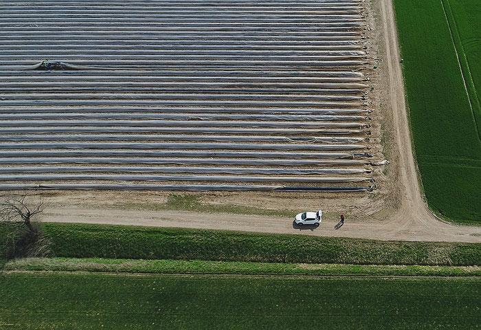 Luftbildfotografie: Anflug mit Drohne. DJI Phantom Pro 4. Foto: bonnescape.de