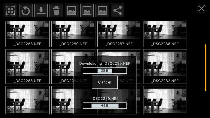 Test: Fernsteuerung der NIKON D500 mit Smartphone und ControlMyCamera V1.0.1. Screenshot und Foto: Bonnescape