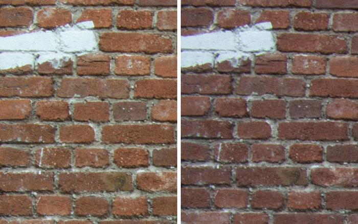 Testvergleich: 2,0/35 mm Zeiss Biogon ZM vs. 2,0/35 mm Zeiss Distagon ZF: Blende 22, Ecke links oben