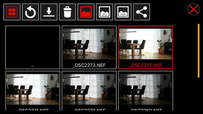 Test: WLAN Tethered Shooting für NIKON mit iPhone und ControlMyCamera V1.0.1. Screenshot und Foto: Bonnescape