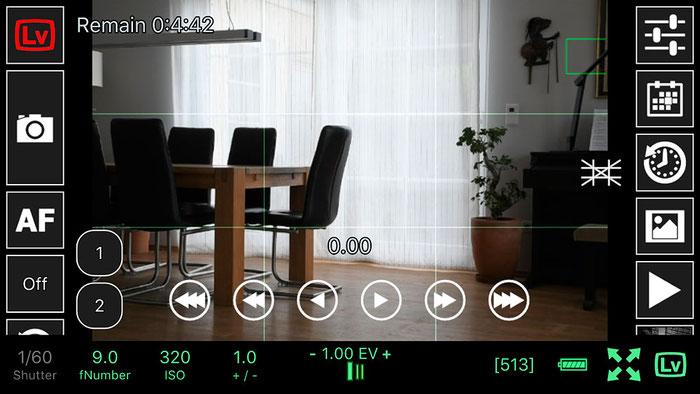 Test: WLAN Tethered Shooting mit NIKON Live View und ControlMyCamera V1.0.1. Screenshot und Foto: Bonnescape