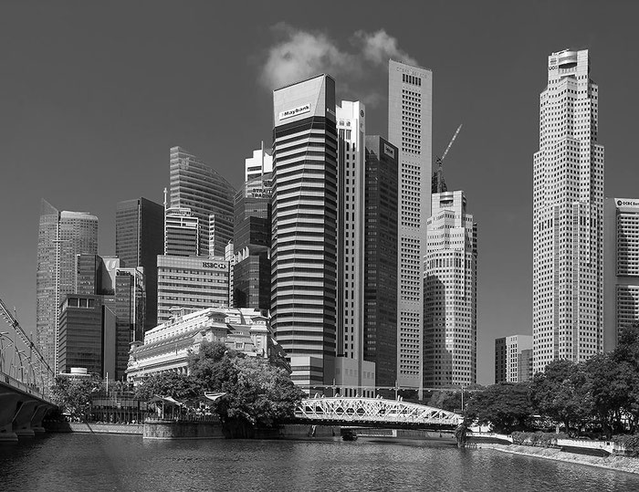 Reisefotografie: Skyline, Singapore. Nikon D200. Nikkor 16-85 mm. Foto: Dr. Klaus Schoerner